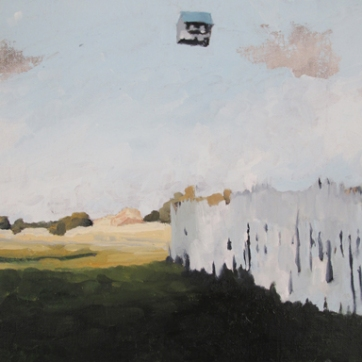 "Caitlin Hurd, ""House on the Field"", oil on canvas, 11 x 14 inches, 2012"