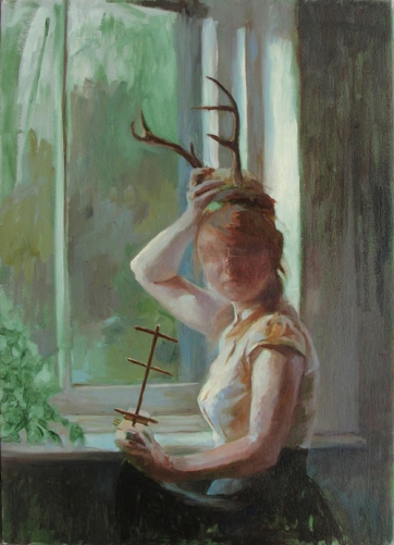 "Shauna Finn, ""Reverie"", oil on canvas, 22 x 16 inches, 2012"